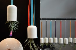 Home decoration with hanging airplant pots
