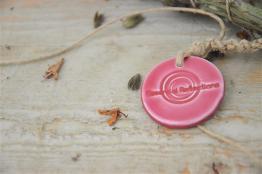 Greek sage smudge, rose ceramic medal