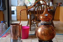 Distilling bay on Crete