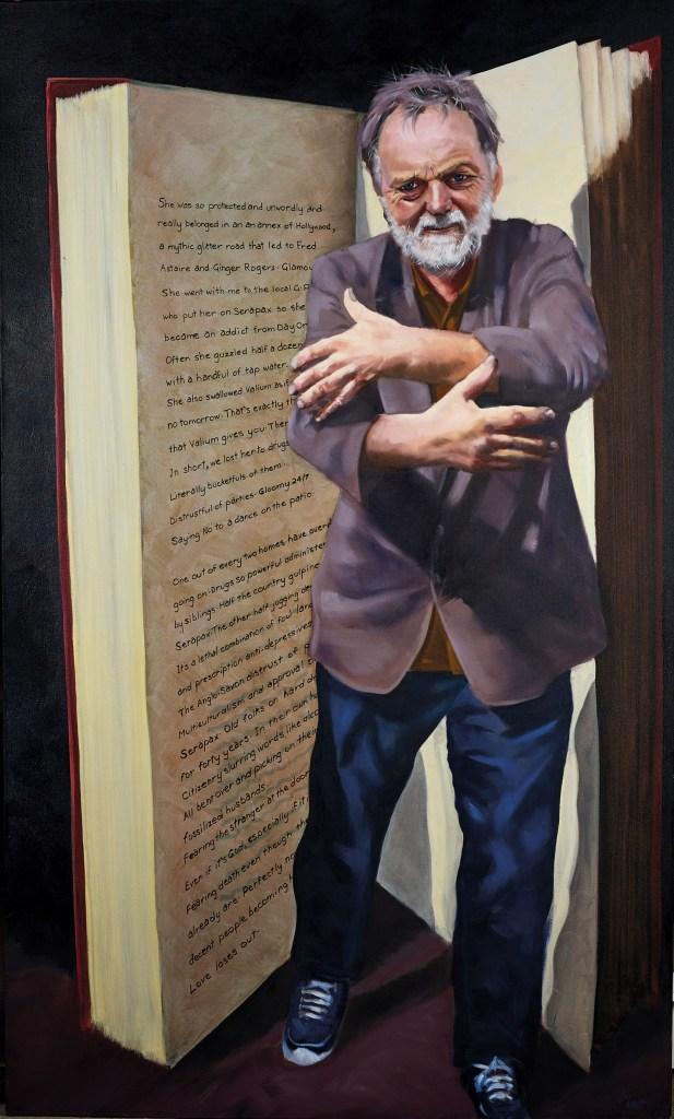 Jim van Geet  B'Angst, Portrait of a Recovering Depressive, 2014 Oil on linen, 200 x120cm
