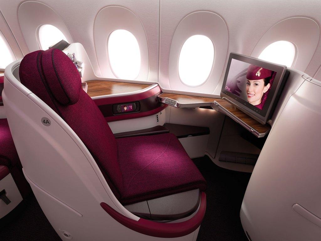 Qatar Airways A-350 Business Class