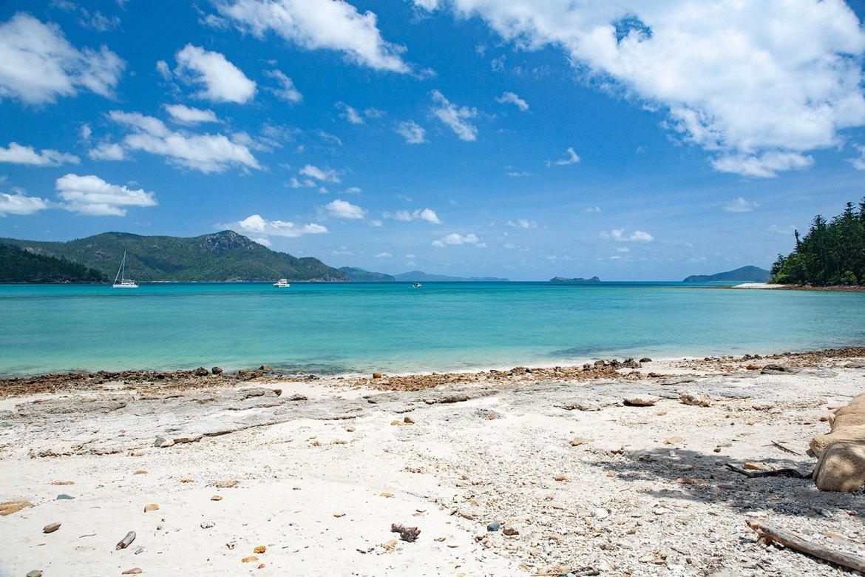 Tongue Bay's coral-strewn beach