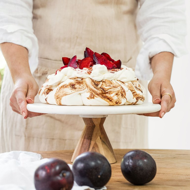 Smashed Queen Garnet Plum Pavlova