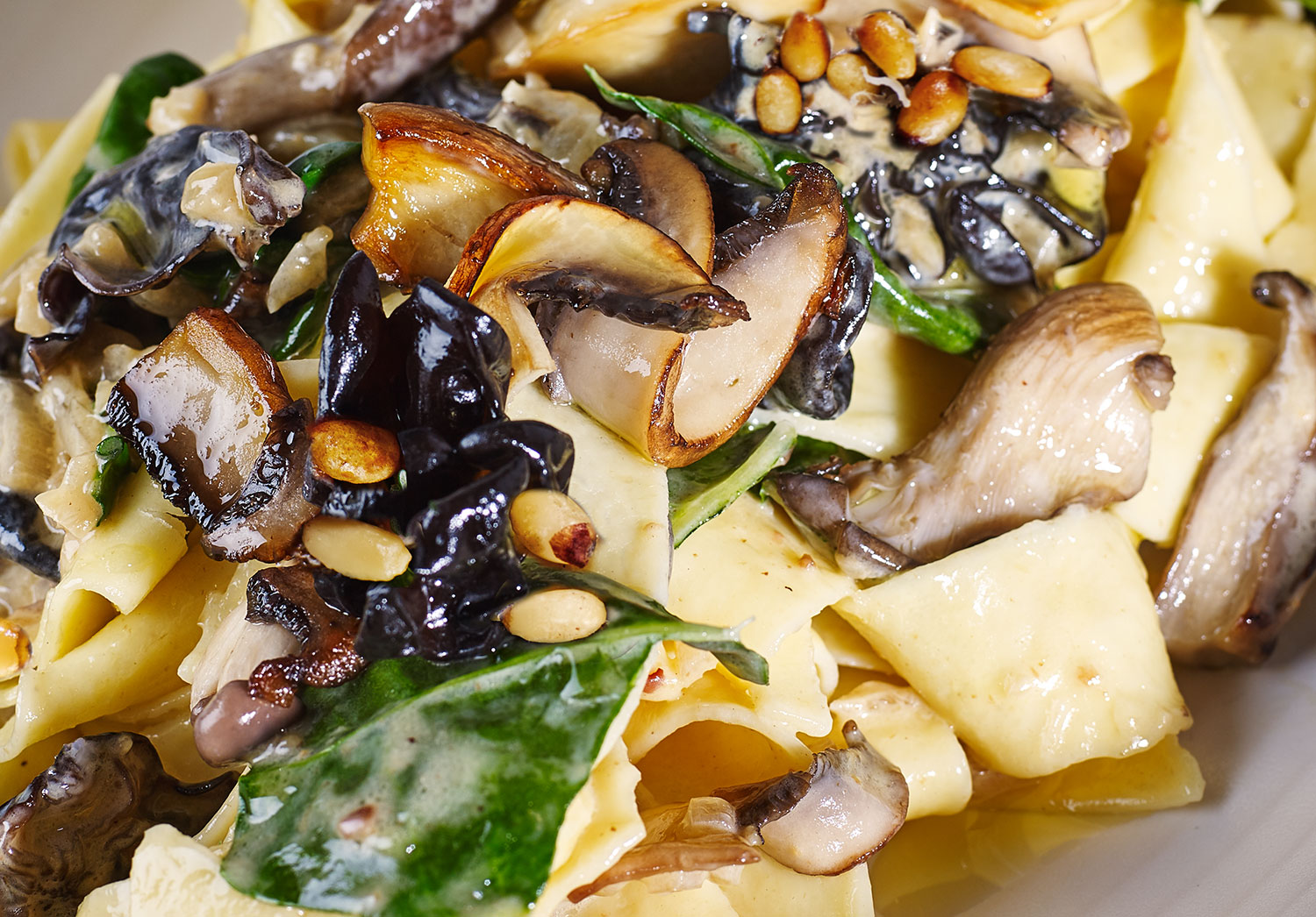 Chestnut Pappardelle with Wild Mushrooms