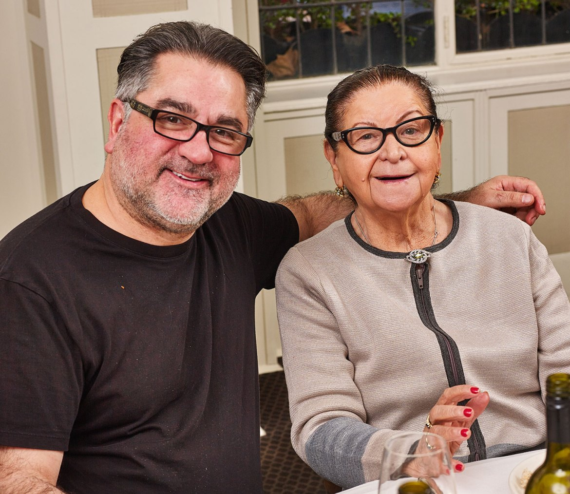 Guy Grossi with his mother Marisa