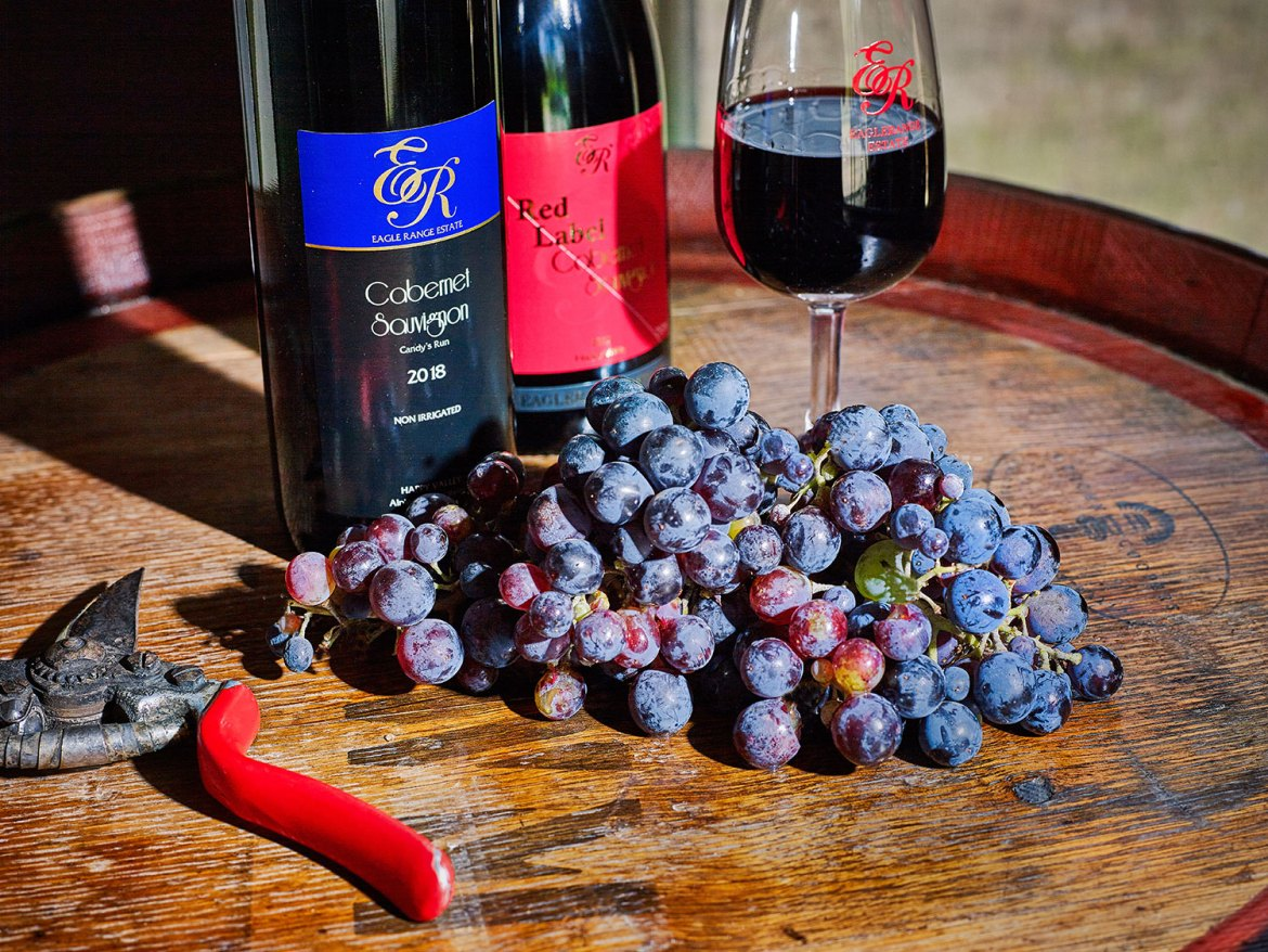 Premium Red and Blue Label Cabernet wines