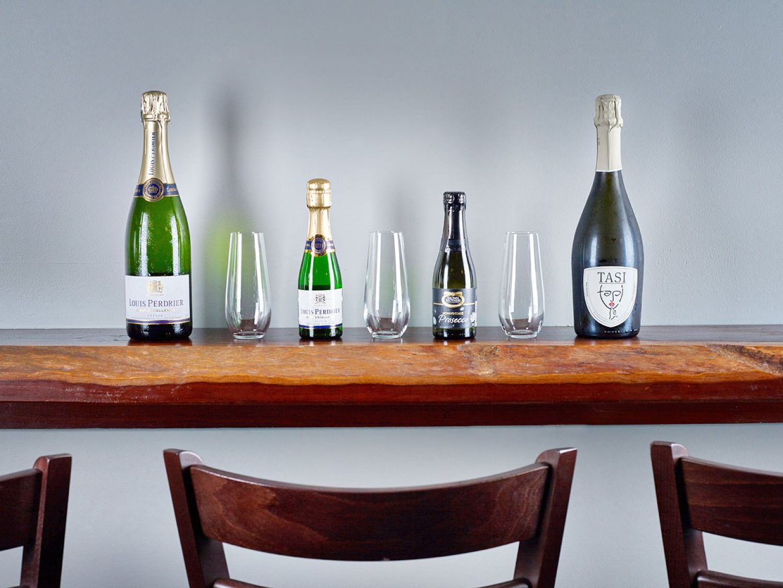 Comparison tastings of top small French Champaigns and Australian Prosecco