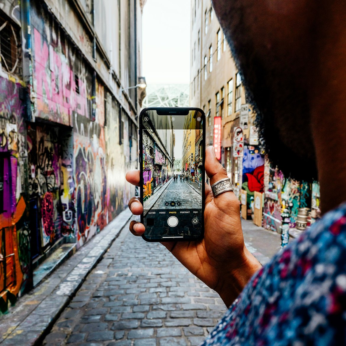 Melbourne's Hosier Lane is one of the city's most colourful, and situated close to the famed collection of MoVida restaurants and bars
