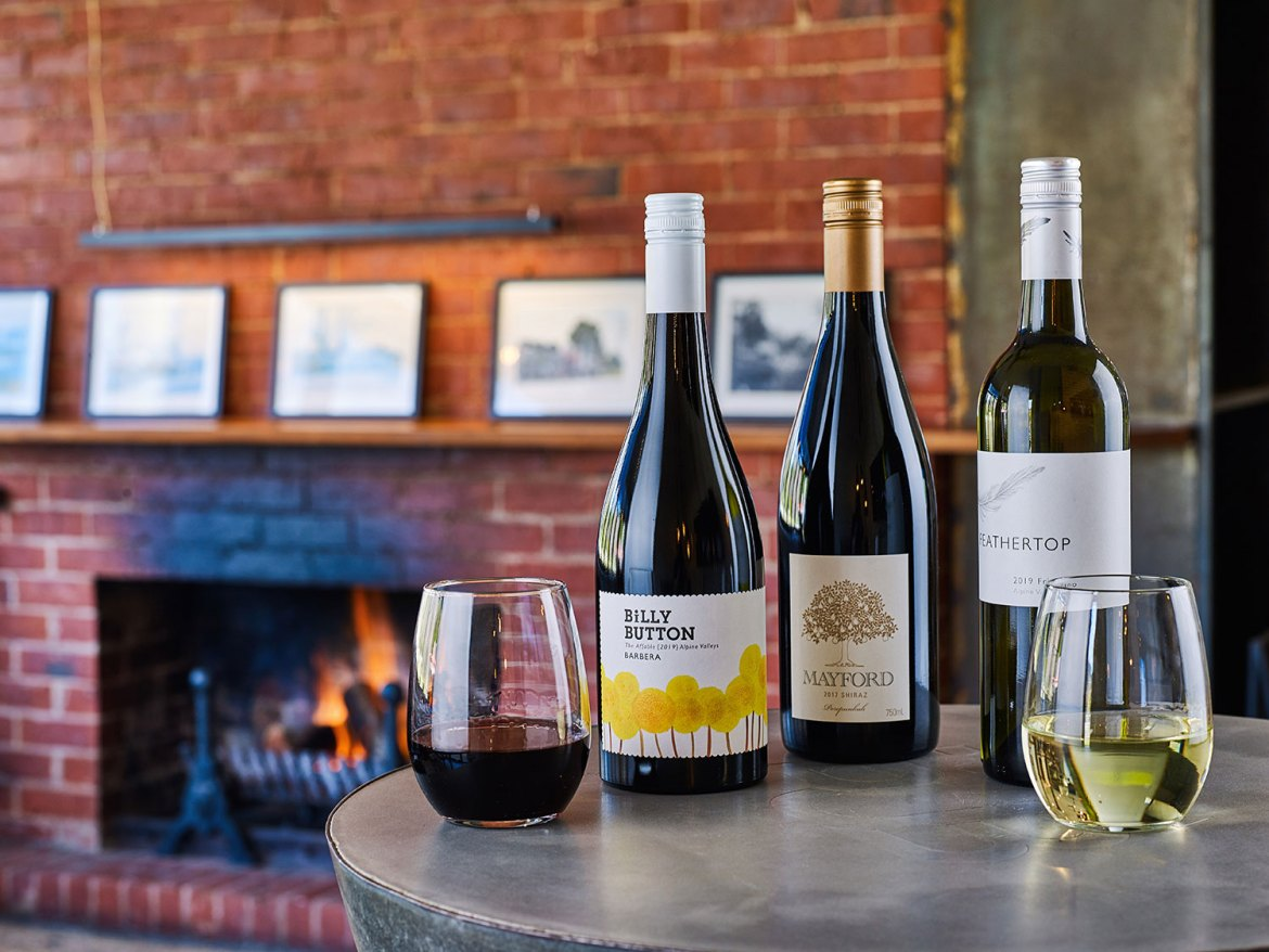 The Porepunkah Pub is proud to be showcasing wines only from their Porepunkah postcode 3740