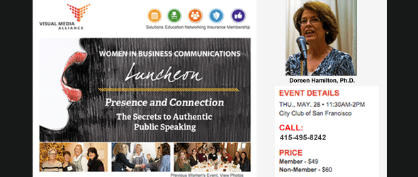 Doreen Hamilton Speaking Event for Women in Business Communications, May 28th 2015 | City Club of San Francisco