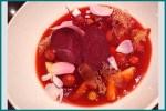 Soupe de fraises à la betterave