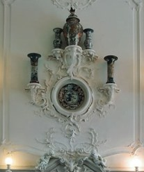 Staircase decoration in Catherine Palace, Russia