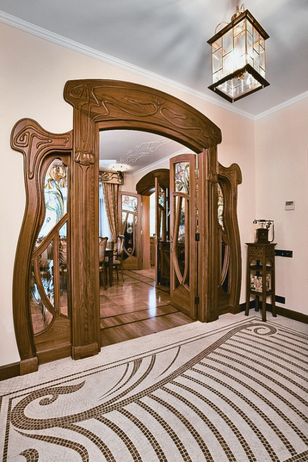 Bon Modern Apartment In Moscow In Art Nouveau Style