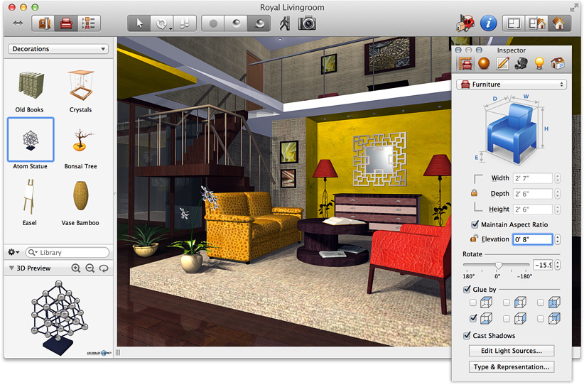 Interior Design Furniture Placement Software ~ Top cad software for interior designers review