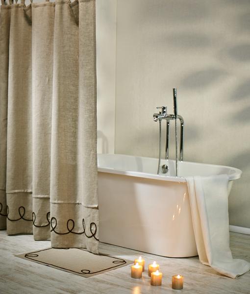 Hemp Naturally Has Very High Water Absorbing Properties Shower Curtain Made