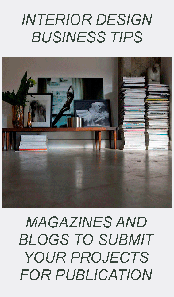interior design magazines and blogs to submit your projects for