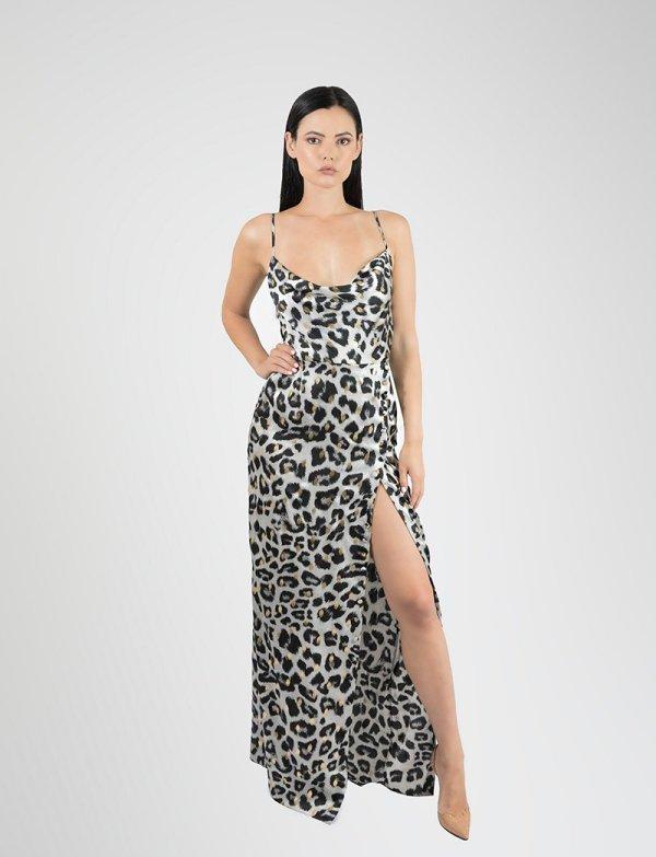 Tati Animal Print Cheetah Grey - Essere Vegano Vegan Clothing