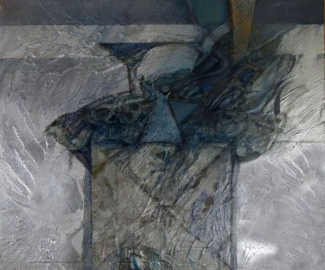 Creatura dell'abisso primordiale - tecnica mista su tavola - cm. 40 x 46