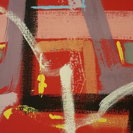 Stratificazioni - acrilico su tela - cm. 30 x 40