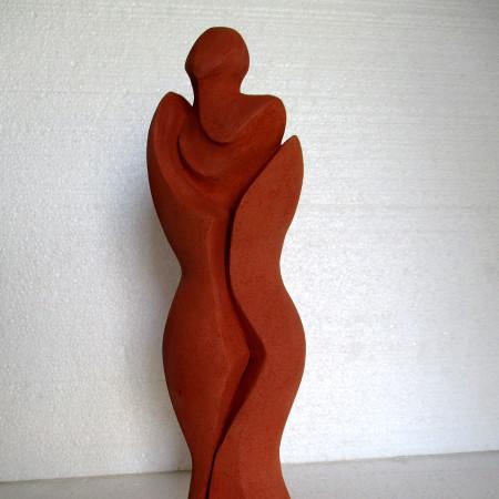 Venere - terracotta smaltata - cm. 32 x 8 x 10