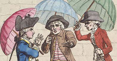 Detail from Gillray's A Meeting of Umbrellas 1782