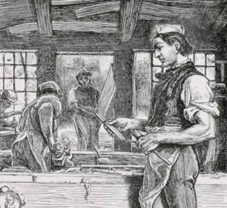 Detail from William Small's illustration from Adam Bede, 1880.