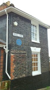 Miss Marple's house. Conveniently located opposite the fish 'n' chip shop.