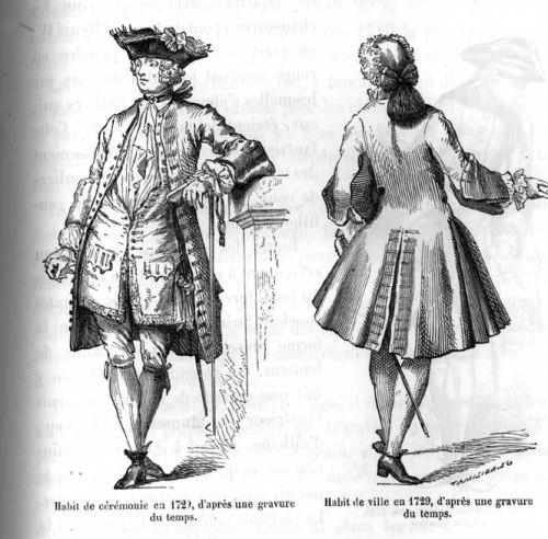 Men's fashion plate, French, 1729