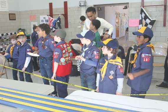 Ready, set, go! Pinewood Derby thrills