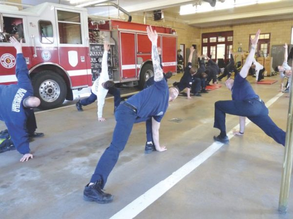 Firefighters learn workouts tailored for their profession