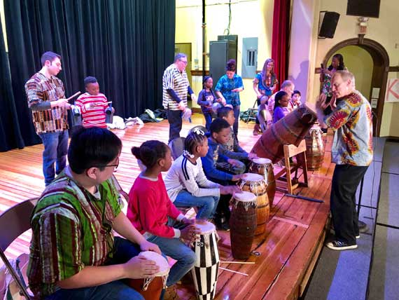 MSU African drumming residency enters 2nd year at Seth Boyden