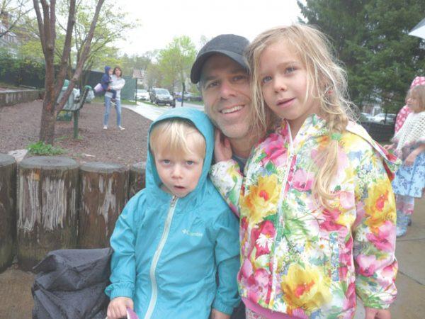 Egg hunt: rain, but fun