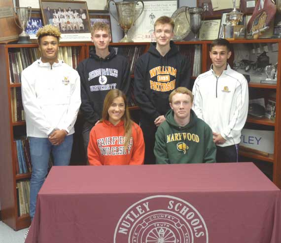 Nutley HS senior student-athletes sign with colleges