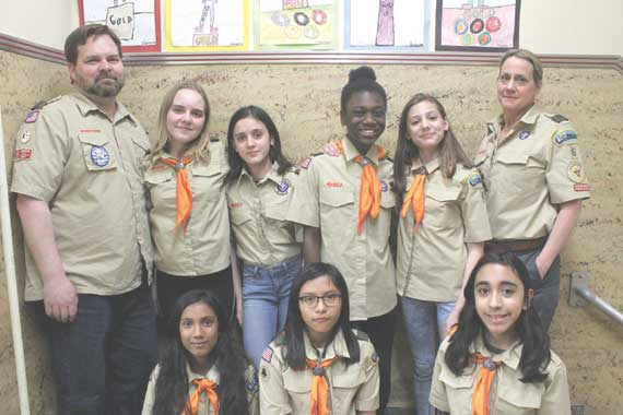 West Orange girls are first to join restructured BSA Troop 6