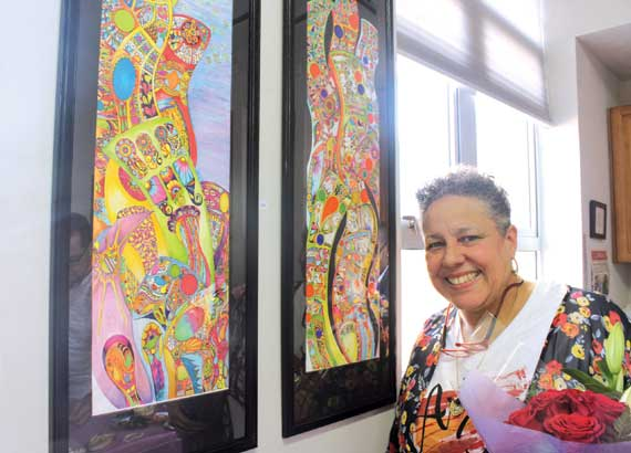 Artist jumps back into creating … thanks to arts center