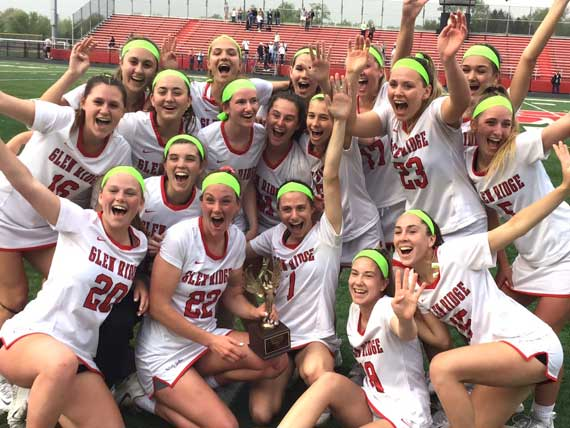 Glen Ridge HS girls lacrosse team captures fourth straight ECT title