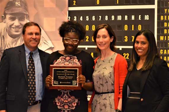 Irvington HS' Herbina Exume receives Best Teammate Award