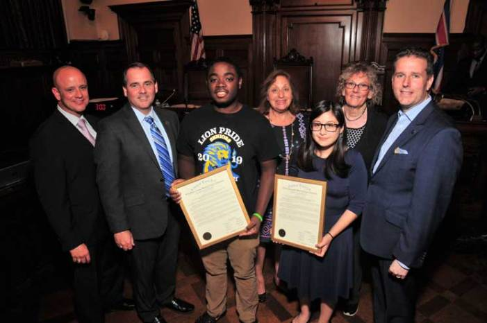 Freeholders honor three county VoTech scholarship recipients