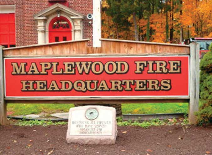Maplewood firefighters handle garage fire on Colgate Road