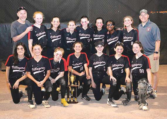 Villagers 14U softball team crowned champs