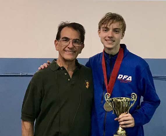 Fencing star Jack Woods wins Men's Junior Foil event at the 2019 Integrity Cup Regional Junior Cadet Circuit at the NJFA in Maplewood