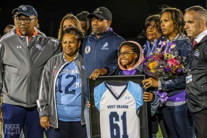 "Christopher ""CJ"" Morgan posthumously honored at West Orange HS football game"