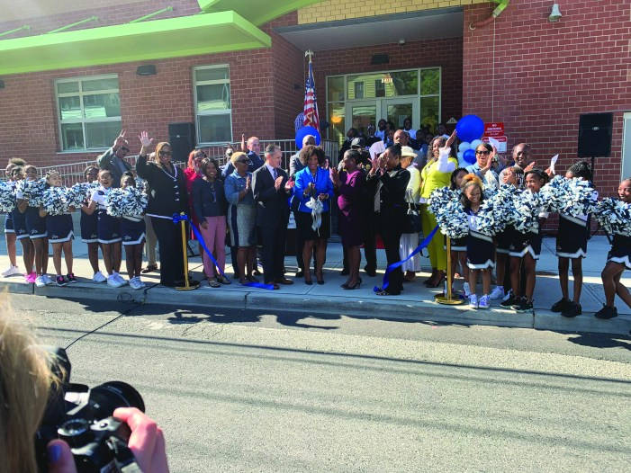 Unveiling of new school celebrated in Irvington