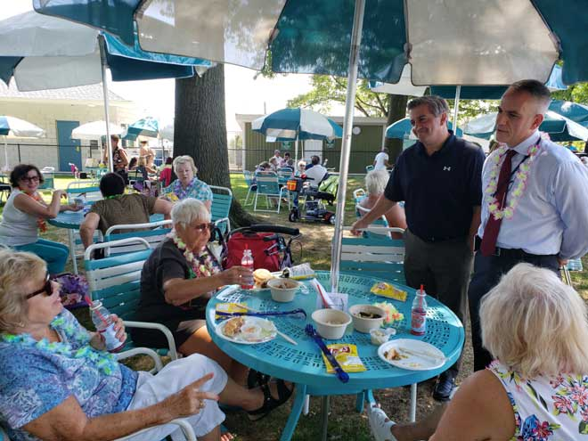 Seniors enjoy picnic and barbecue at WO pool
