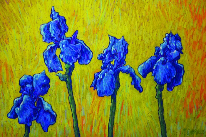 Local artist has exhibit of pastels at library