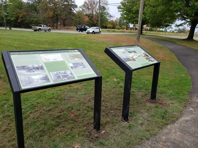 Two historical markers installed at Eagle Rock Reservation