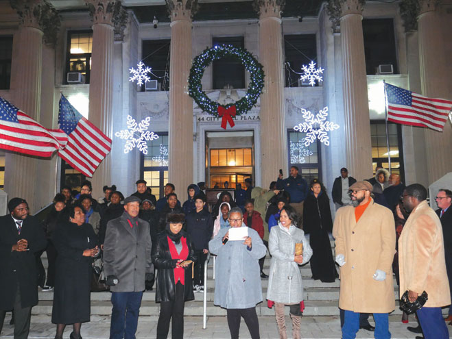 East Orange hosts holiday tree-lighting and toy giveaway