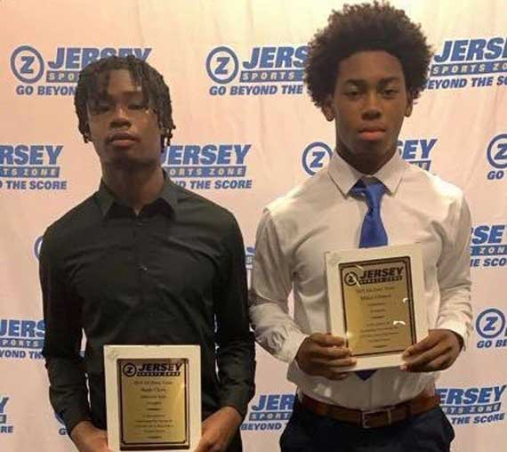 Irvington HS football players honored at Jersey Sports Zone banquet; Battle also receives awards