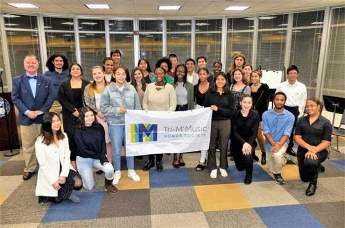 Tri-M Music Honor Society inducts new members