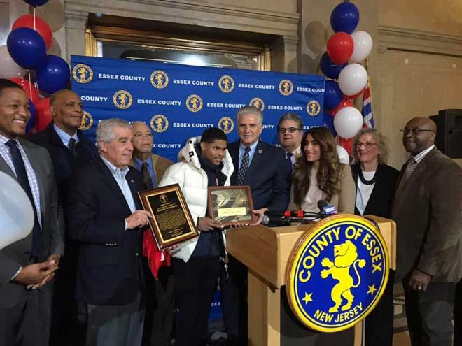 Essex County presents boxer Shakur Stevenson with Key to Essex County